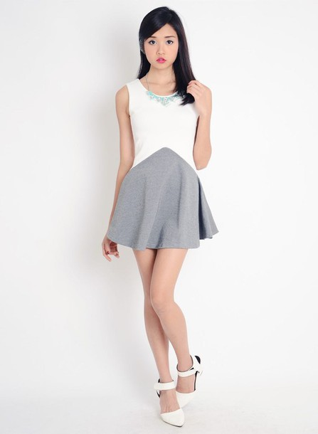 dress grey dress white dress
