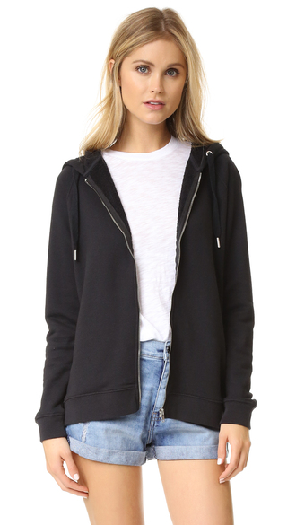 jacket fashion clothes zoe karssen zip through hoodie french terry long sleeves