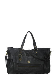 Travel bag en cuir Totally Noir Pieces en promotion sur MonShowroom.com