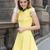 Vestido volante manga corta-amarillo