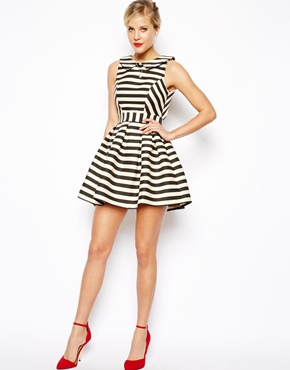 ASOS Petite | ASOS PETITE Exclusive Striped Skater Dress at ASOS