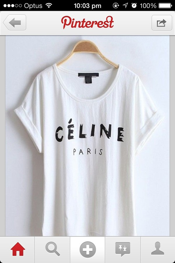 shirt top celine shirt
