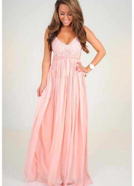 dress pink maxi dress light pink