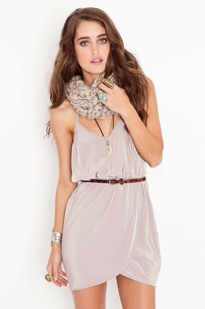 Racerback Wrap Dress - Taupe | Shop Clothes at Nasty Gal