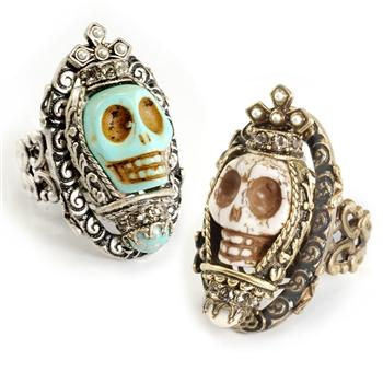 Sweet Romance™ Ollipop Queen Skull Ring
