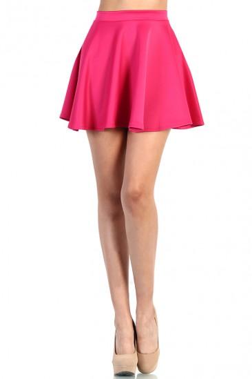 OMG Cute Skater Skirt - Fuchsia