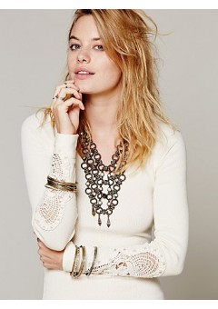 Free People Synergy Cuff Tee - Ivory