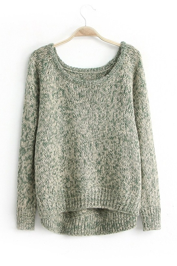 Street Style High Low Loose Sweater [FKBJ10223]- US$36.99 - PersunMall.com