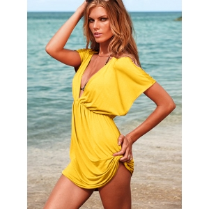 Robe de plage jaune 40367-5