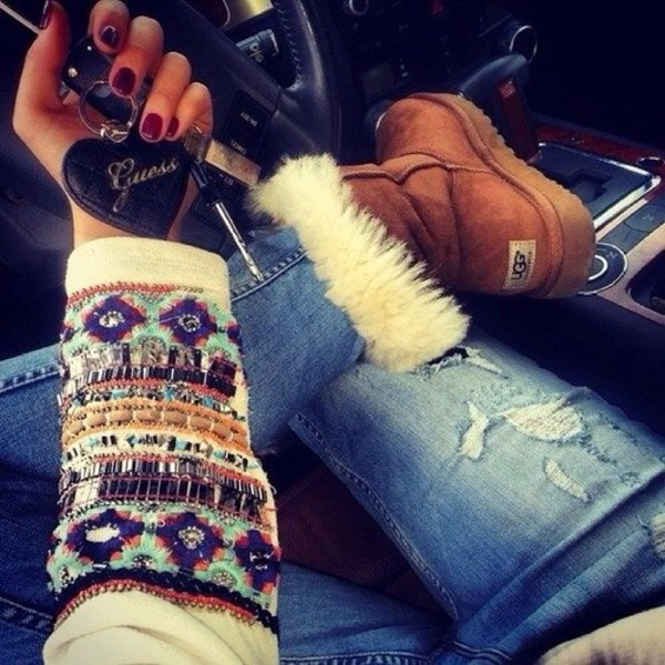 shoes sweater jewels