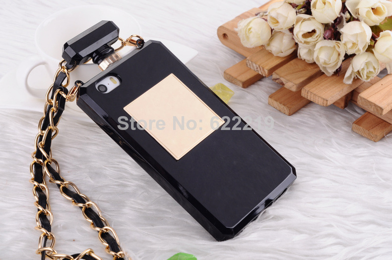 2014 HOT New Design Perfume Bottle Case For Iphone 5 5G 5S With Top TPU Material anti knock phone case-in Phone Bags & Cases from Electronics on Aliexpress.com