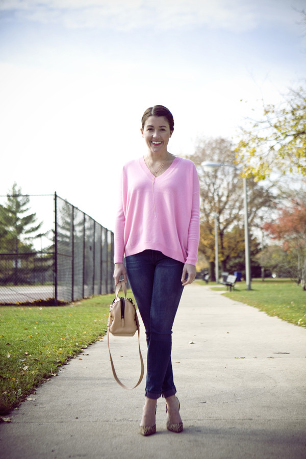 sequins and stripes sweater shoes bag jewels
