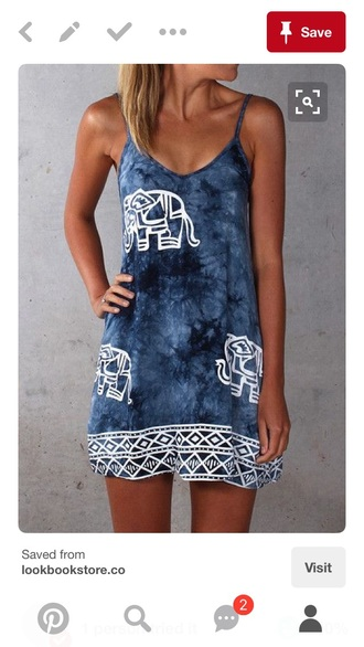 dress aztec boho dress elephant print summer dress