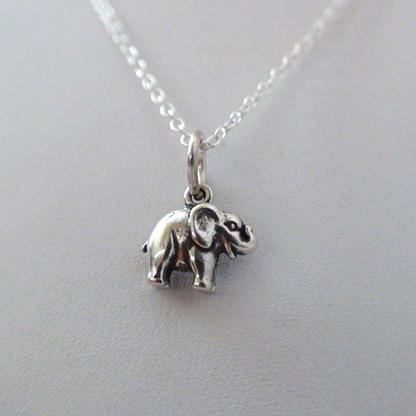 Tiny Elephant Necklace - 925 Sterling Silver