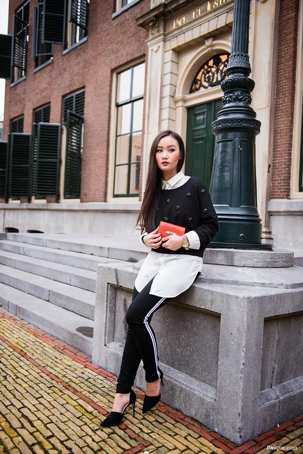 tlnique sweater pants bag shoes shirt