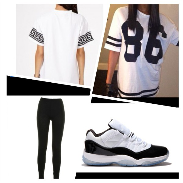 t-shirt shoes blouse