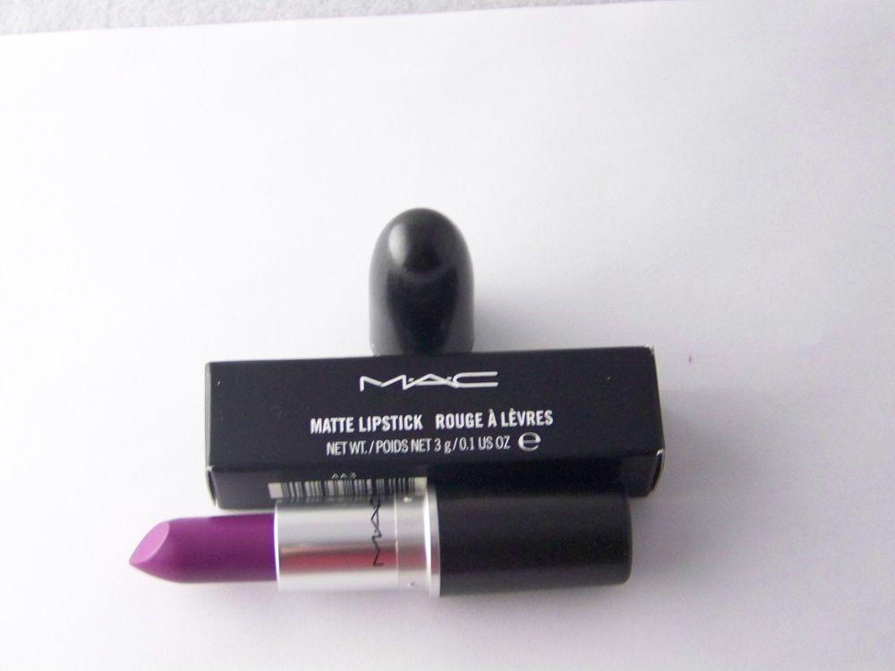 Mac Matte Lipstick Heroine Bright Purple New in Box | eBay