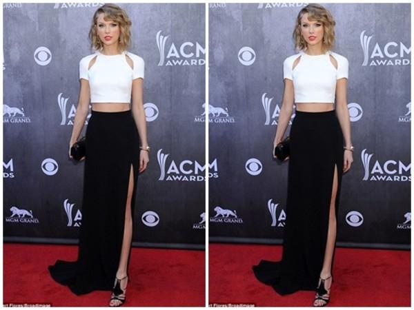 taylor swift crop tops skirt celebrity style dress