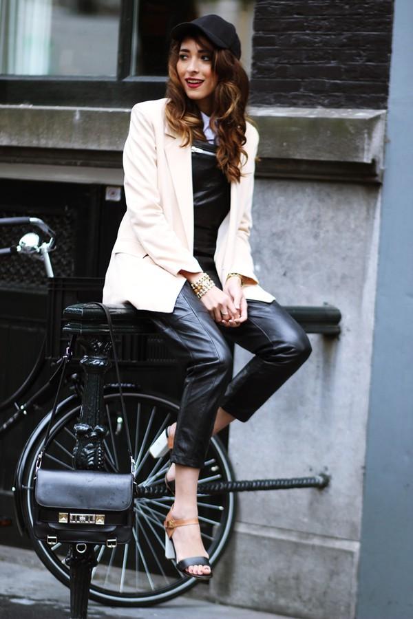 preppy fashionist jacket blouse shoes bag