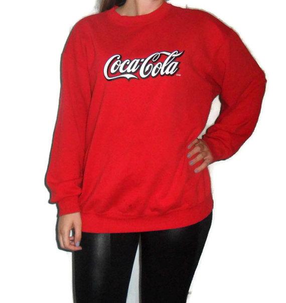 90's Coca Cola Crewneck Sweater / 1990's Coke by RetroFreshTees
