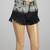 Gray & Black Ombré Fringe High-Waist Denim Dolphine Shorts | zulily