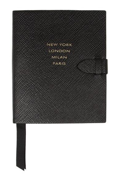 Smythson|Runway textured-leather notebook|NET-A-PORTER.COM