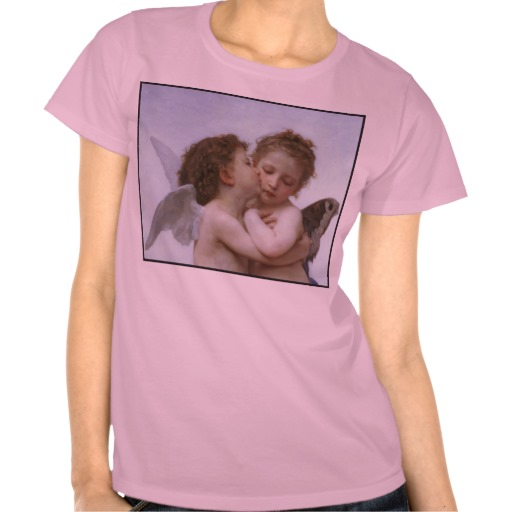 Cupid & Psyche as Children T Shirt from Zazzle.com