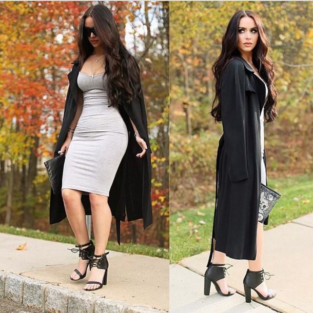 dress coat shorts carli bybel fashion blogger shoes