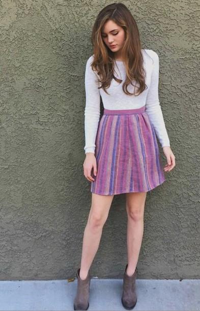 skirt colourful skirt purple skirt bohemian bohemian skirt grace cox girly