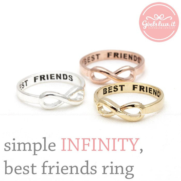 jewels jewelry ring infinity ring best friends infinity ring best friends infinity ring bff infinity friendship