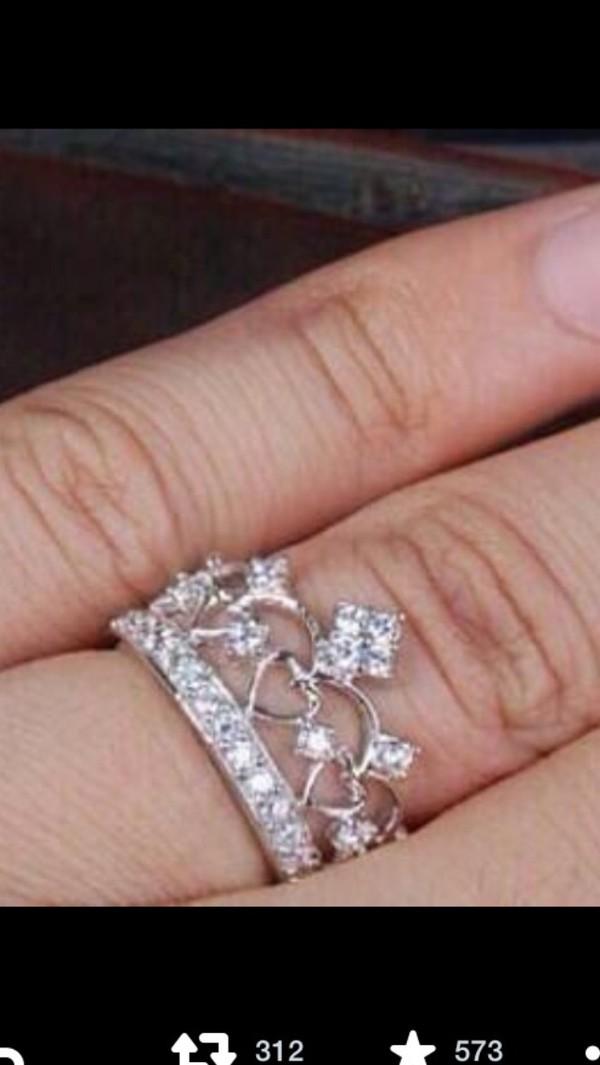 jewels ring ring crown tiara jewelry sparkle ring tiara ring crown ring