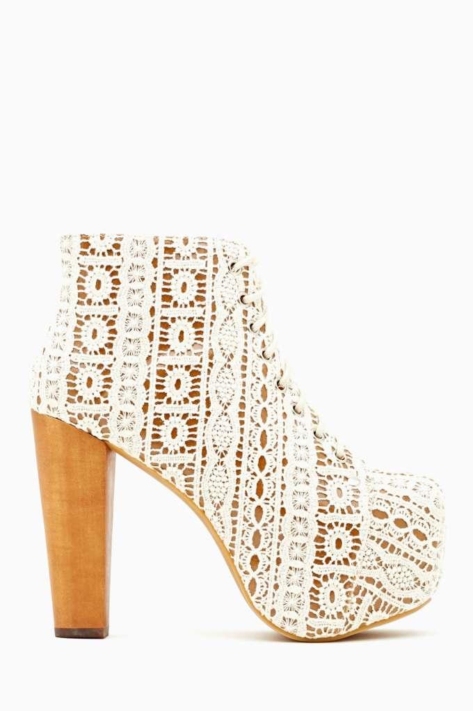 Jeffrey Campbell Lita Platform Boot - Ivory Crochet | Shop Litas at Nasty Gal