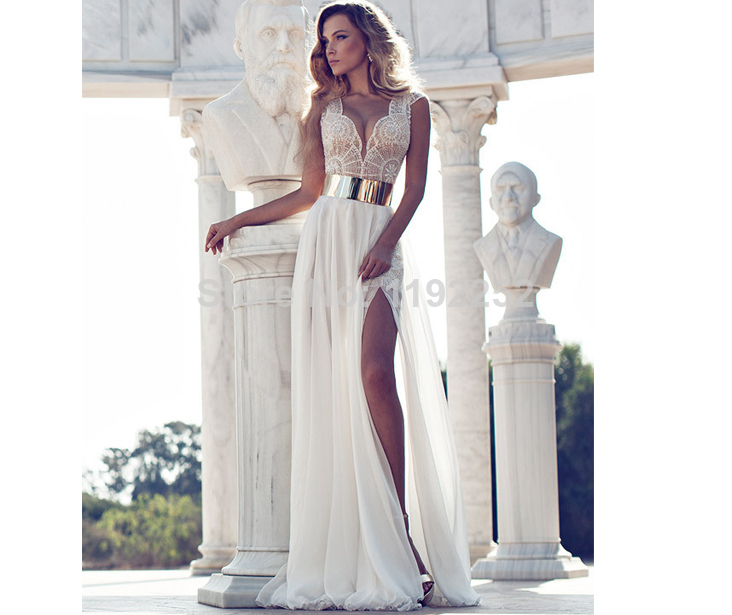 Aliexpress.com : Buy Women Fashion Wedding Dresses V neck Sleeveless A line Court Train Floor Length Bridal Gown With Chiffon Lace from Reliable Wedding Dresses suppliers on readdress