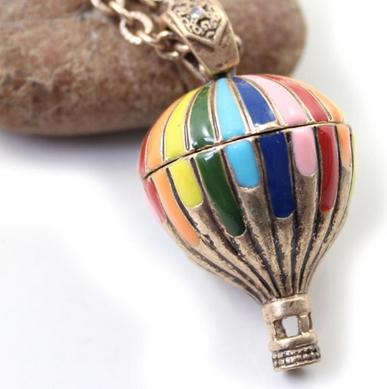 Hot Balloon Personalized Necklace - Juicy Wardrobe