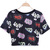 Black Short Sleeve Letters Print Crop T-Shirt - Sheinside.com