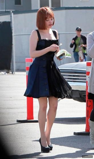 blue dress seyfried buttons black dress amanda seyfried dress ginger