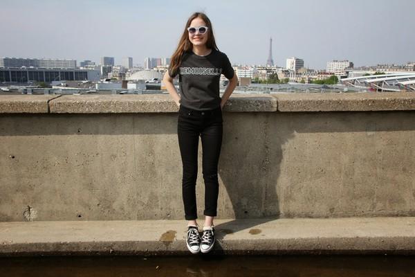 fashion salad t-shirt jeans shoes bag