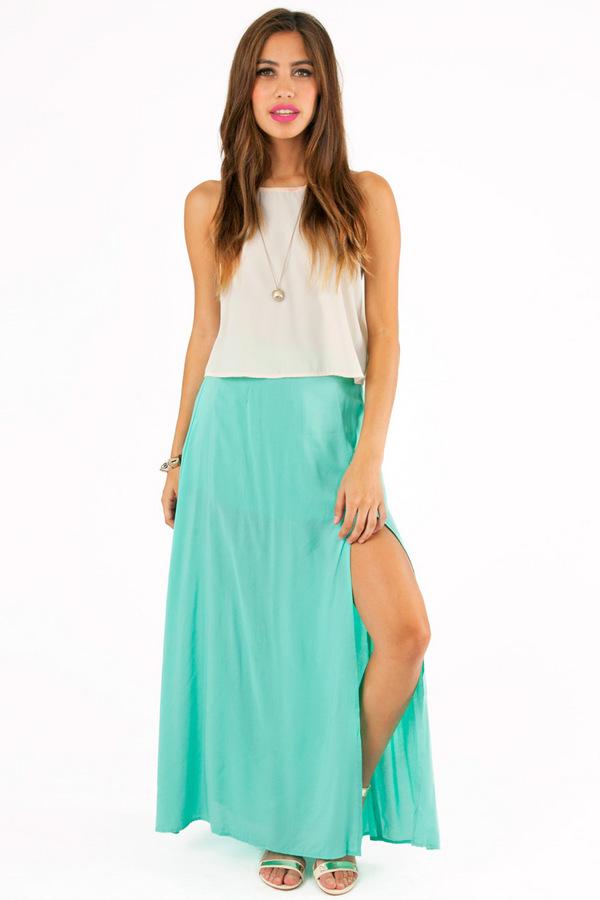 Oh Slit Maxi Skirt - Tobi