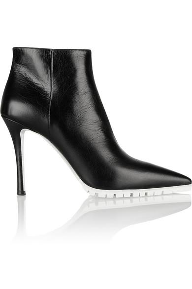 Miu Miu|Textured-leather ankle boots|NET-A-PORTER.COM