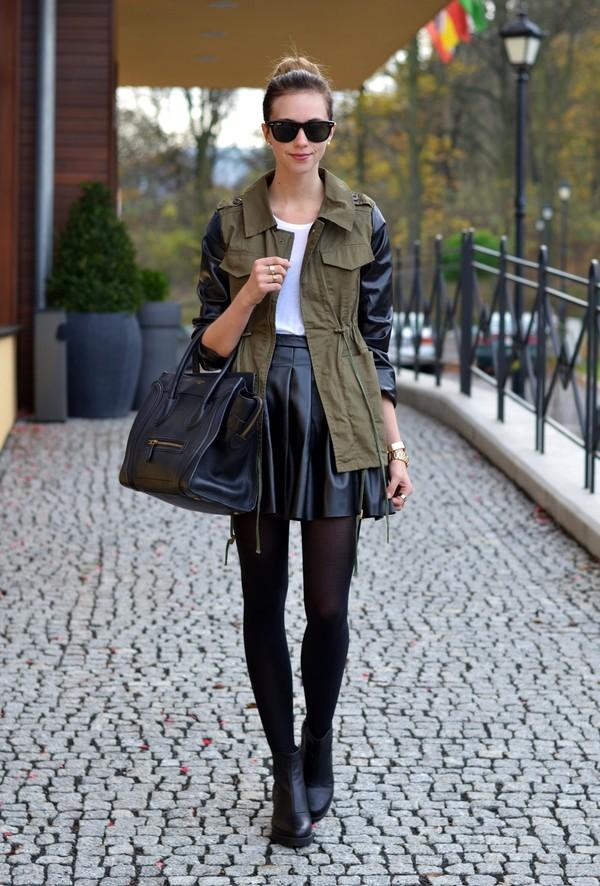 vogue haus t-shirt skirt jacket shoes bag sunglasses jewels