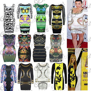 Womens Pencil Party Tunic Rihanna Ladies Celebrity Short Bodycon Top Mini Dress | eBay