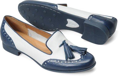 Born Charmaine in Bianco-Blue - Born Womens Casual on Shoeline.com