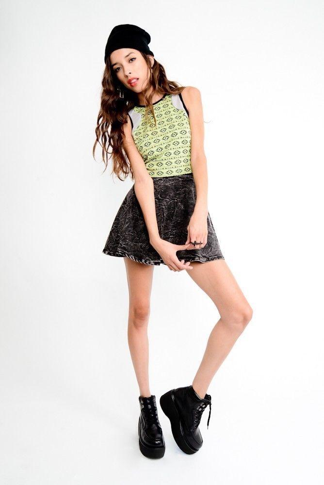 Free Shipping Cute Gal Acid Wash Denim Circle Skirt | eBay