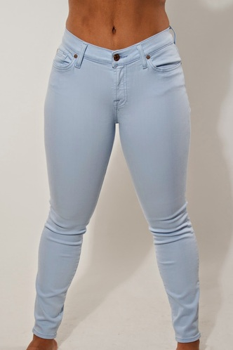 "The Slim Illusion Ankle Skinny in Sky Blue (28"" Inseam) - Polished Boutique"