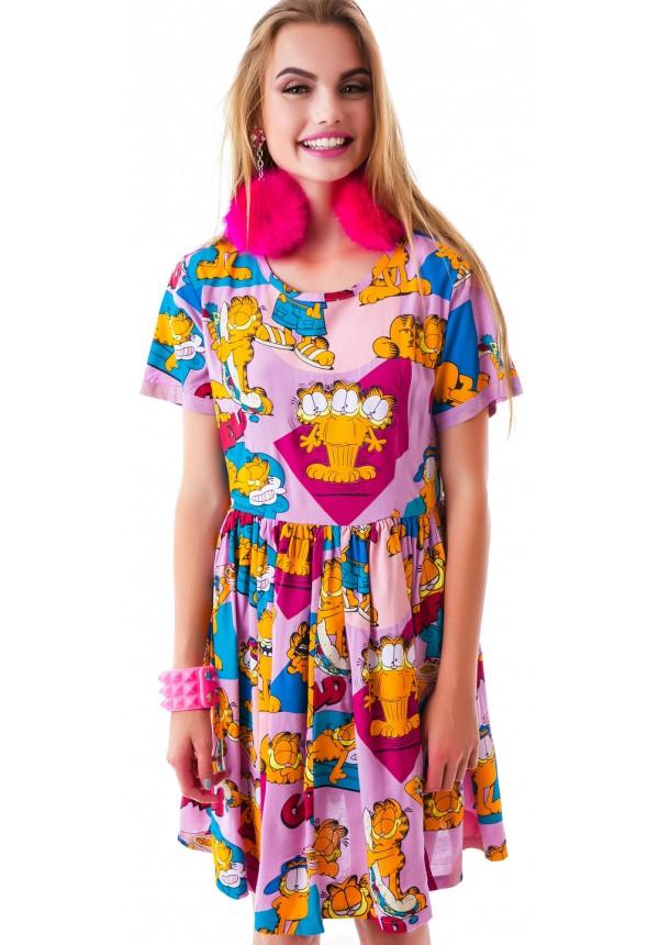 Lazy Oaf  x Garfield Mega Field Dress | Dolls Kill