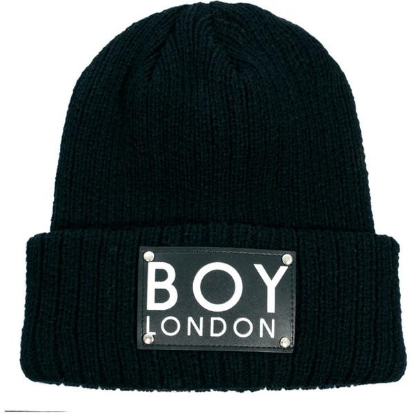 Boy London Patch Beanie Hat - Polyvore