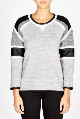 IRO | Pipa Leather inserts sweatshirt by IRO