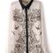 Beige long sleeve contrast collar symmetry leiothrix blouse - sheinside.com