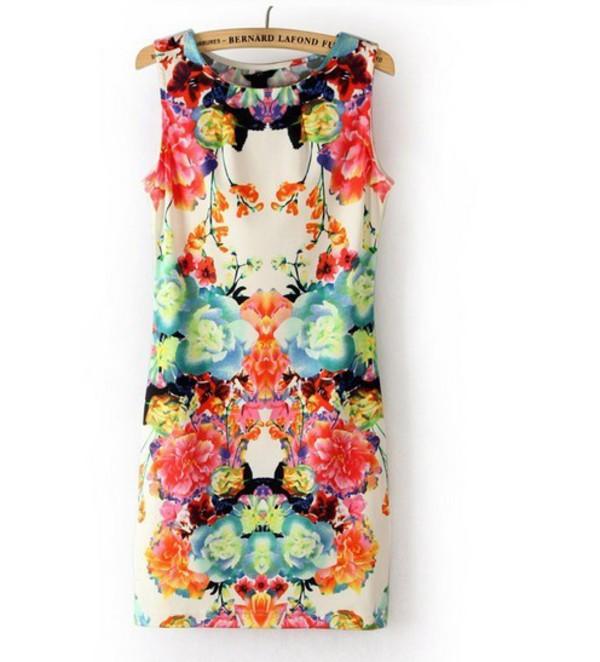mini dress floral dress o-neck dress casual dress