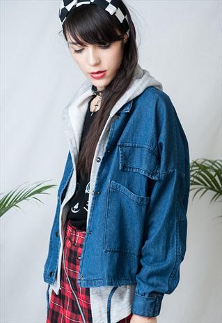 2 in 1 denim coat  | mancphoebe | ASOS Marketplace